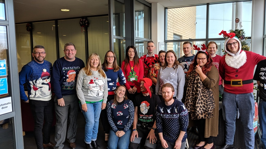Christmas Jumper Day 2018 at Boston Enterprise Centre
